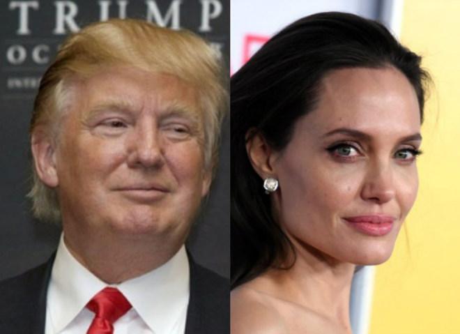 Анджелина Джоли и Дональд Трамп