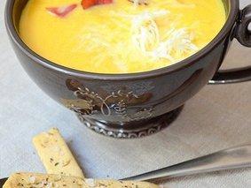 Тыквенный крем-суп с беконом
