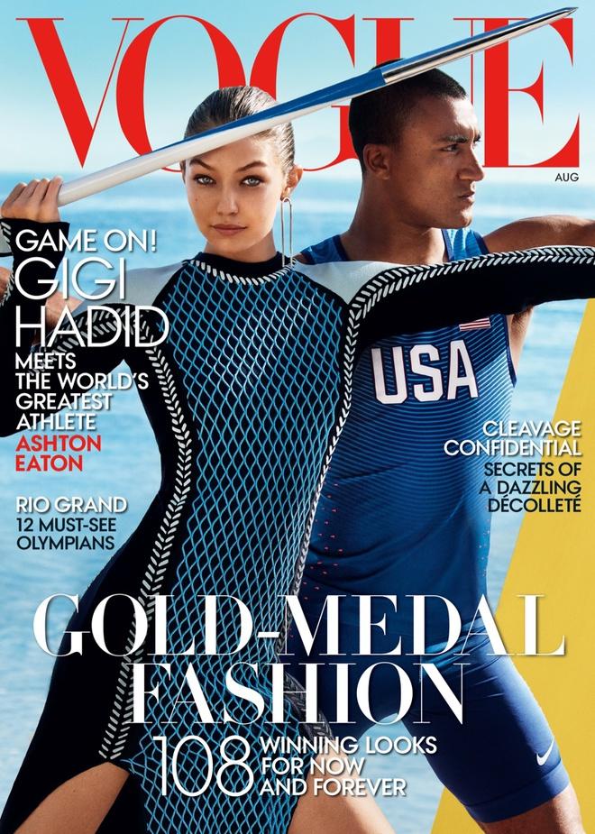 Джіджі Хадід і Ештон Ітон в фотосесії Vogue (серпень, 2016)