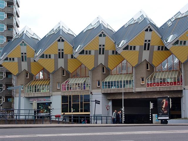 Самые необычные дома в мире: Кубические дома, Роттердам, Нидерланды