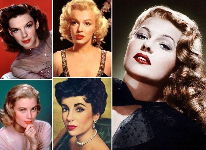 Ікони краси 40-х й 50-х колаж