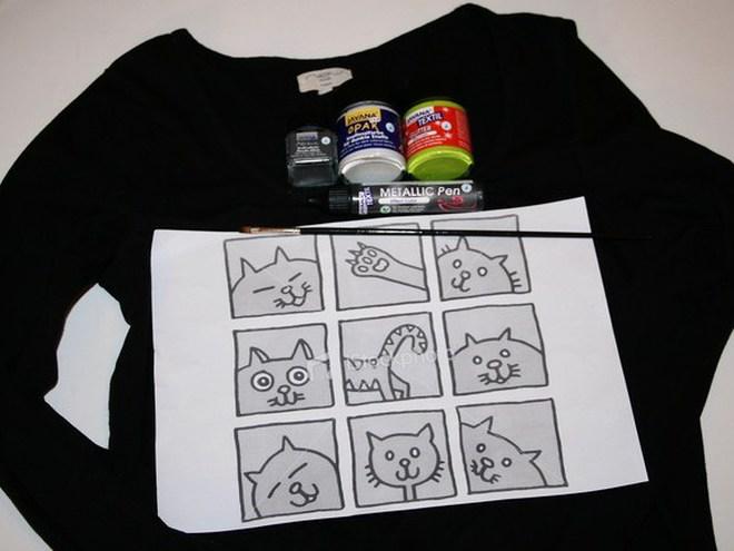 Как нарисовать рисунок на футболке в домашних условиях 194