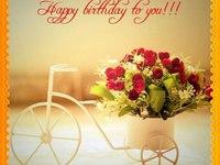 Милая открытка ко дню рождения