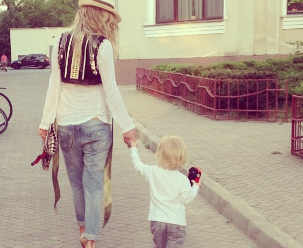 Маша Малиновская с сыном
