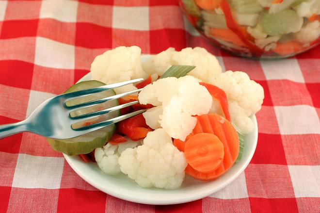 Маринованная цветная капуста на зиму, Дрожжевое тесто