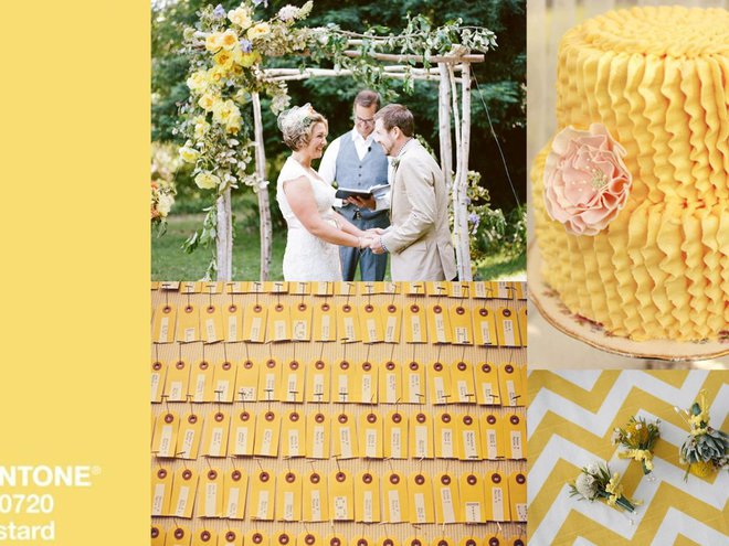 Модные свадебные оттенки: custard