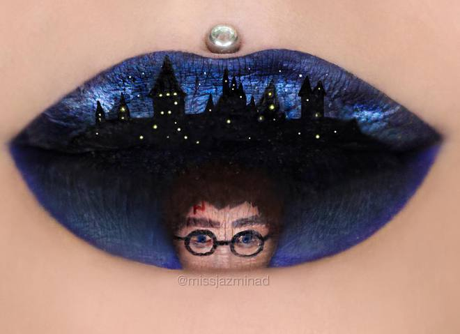 Потрясающие рисунки на губах от визажиста из Австралии