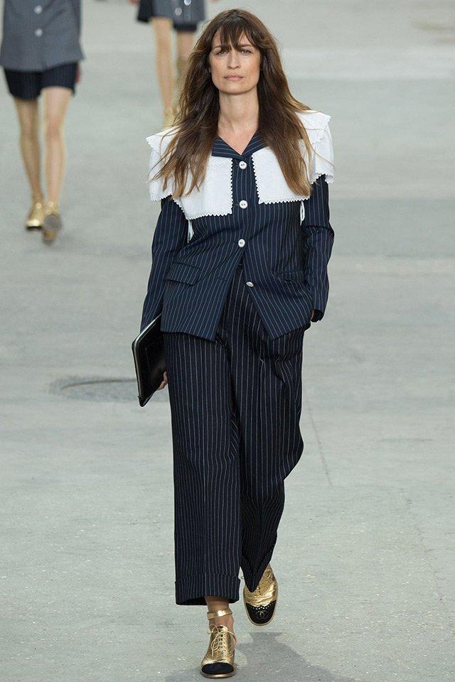 Каролин де Мегрэ на показе Chanel