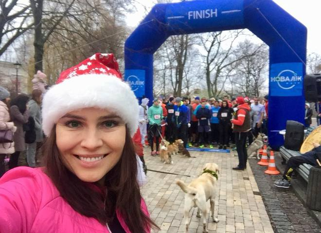 Анастасия Даугуле начала 2018 год с забега