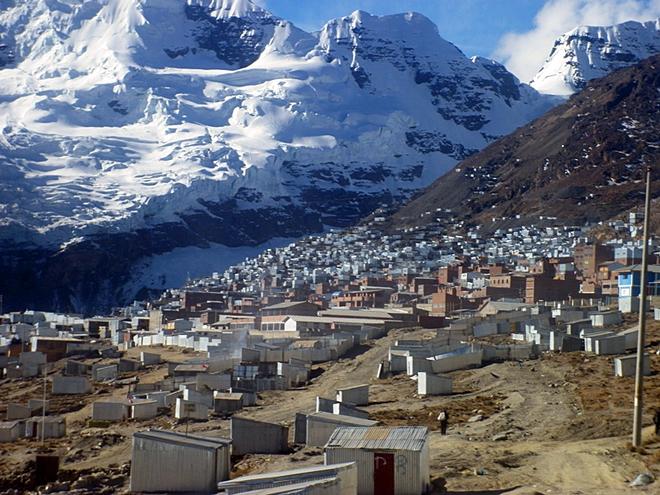 Города выше и ниже уровня моря: Ла Ринконада, Перу