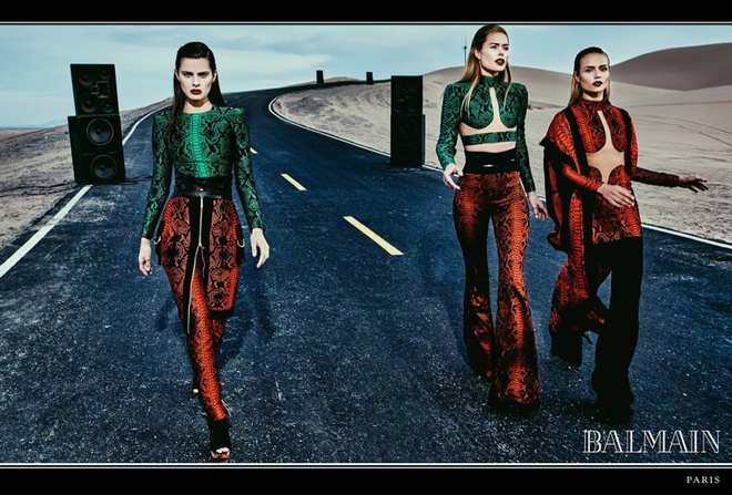 Даутцен Крус, Наташа Полі і інші моделі в рекламній кампанії Balmain