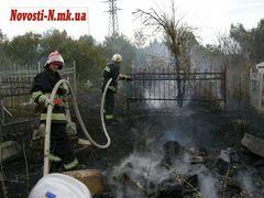 В Николаеве горит городское кладбище