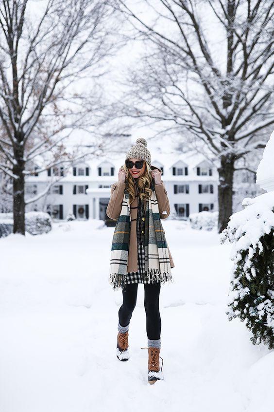 Как одеться в снегопад