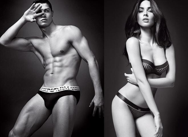 Megan Fox & Cristiano Ronaldo in Armani Jeans