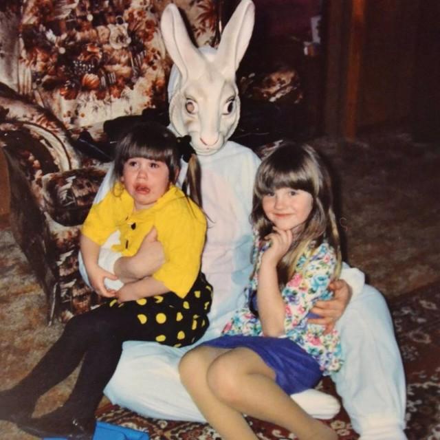 Милые пасхальные кролики