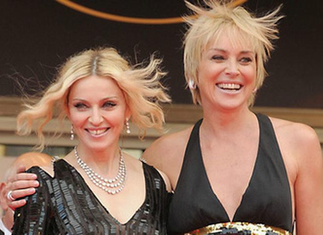 Мадонна и Шарон Стоун