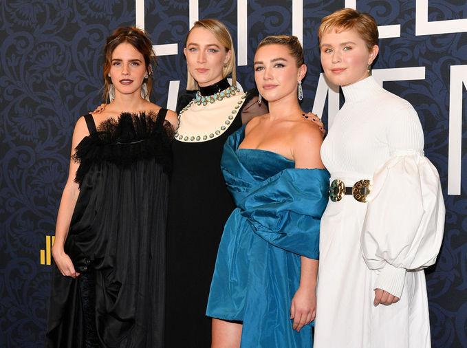 """Эмма Уотсон, Сирша Ронан и Лора Дерн на премьере """"Маленькие женщины"""""""