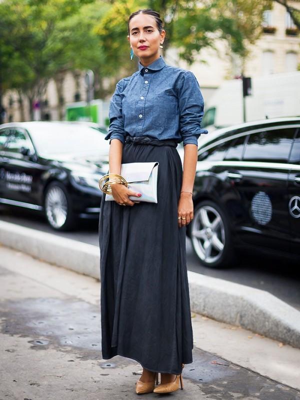 6 способов носить макси-юбку и выглядеть модно