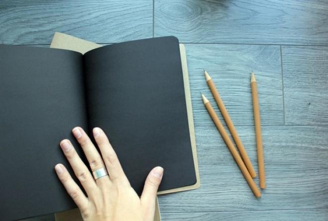 Как сделать чёрный блокнот