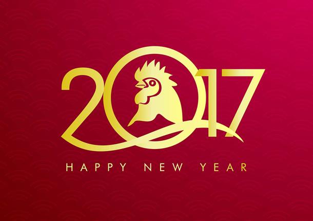 Открытки на Новый год петуха 2017