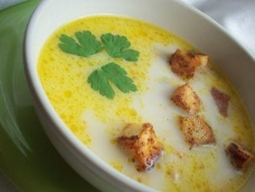 Суп с плавленым сыром.