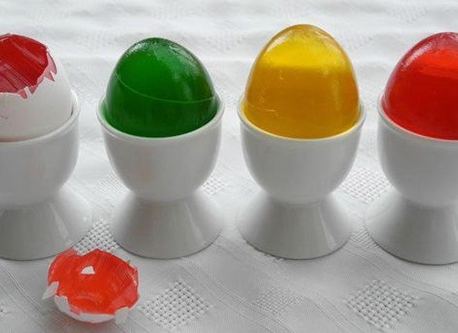 Желейные пасхальные яйца