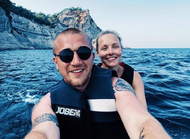 Олена Шоптенко з чоловіком