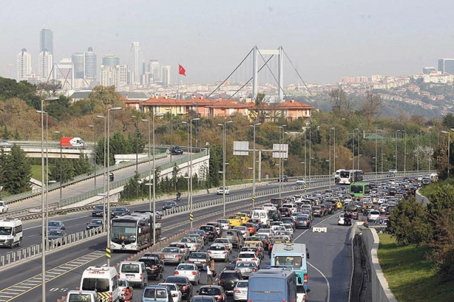 Самые загруженные города в Европе: Пробки в Стамбуле