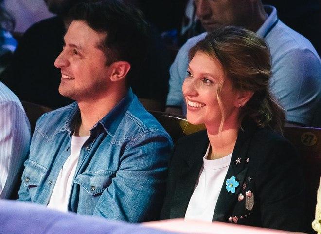 Володимир і Олена Зеленські