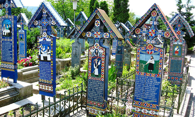 Веселий цвинтар, Румунія