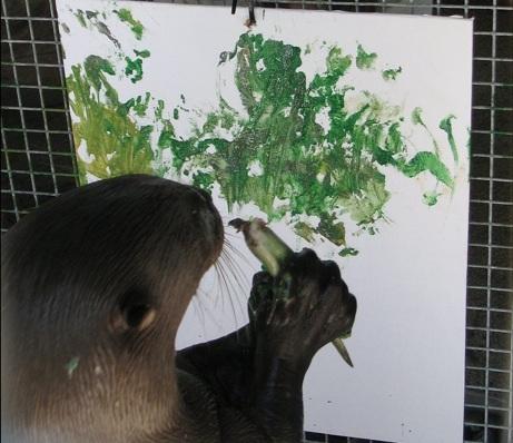 животные рисуют картины