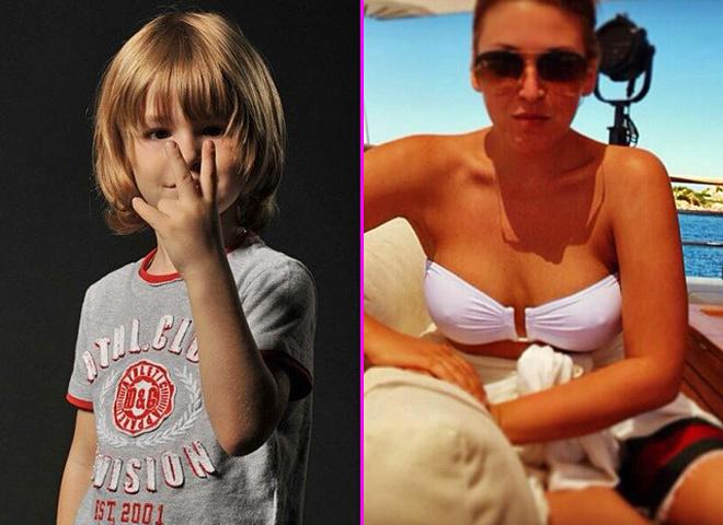 Ирина Дубцова показала подросшего сына