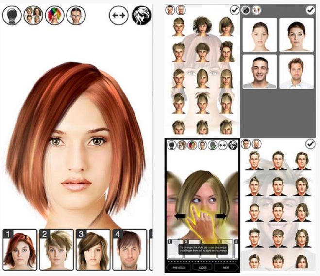 Приложение-парикмахер
