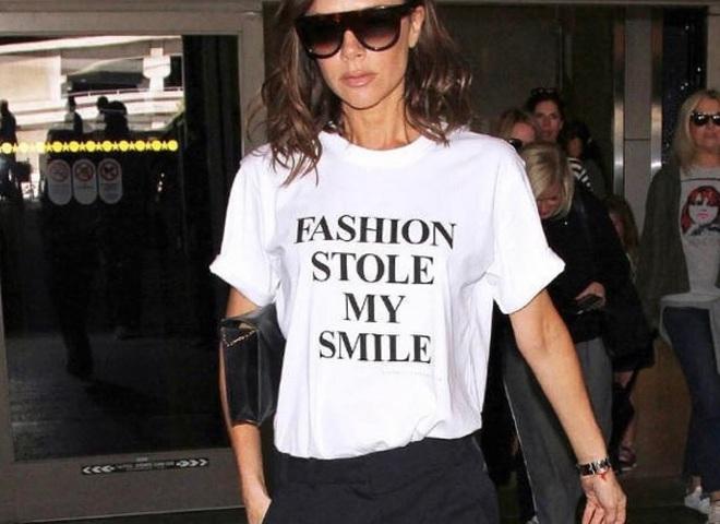 Забавная футболка Виктории Бекхэм