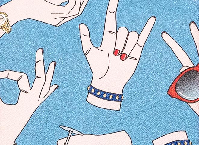 Сумки Trussardi Gestures вчать італійській жестикуляції