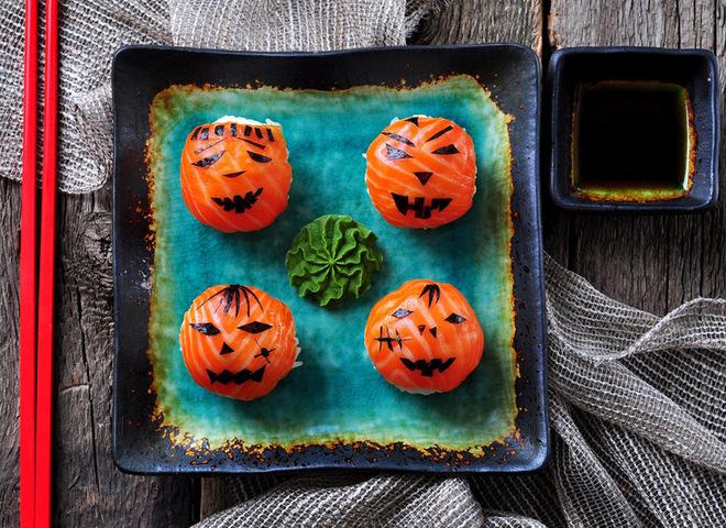 Суши: рецепт в домашних условиях на Хэллоуин