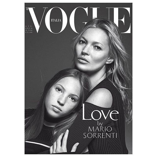 Кейт Мосс з донькою прикрасили обкладинку Vogue Italia