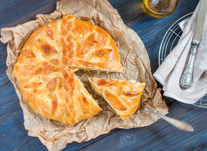 Монастырский пирог с капустой
