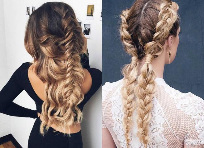 Прическа с плетением косы фото