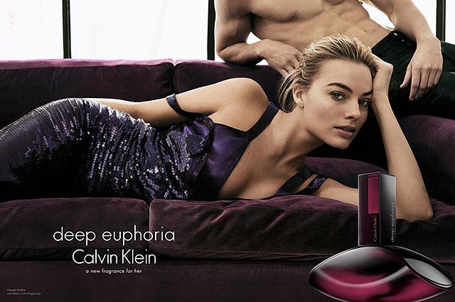 Марго Робби - лицо парфюма Deep Euphoria от Calvin Klein