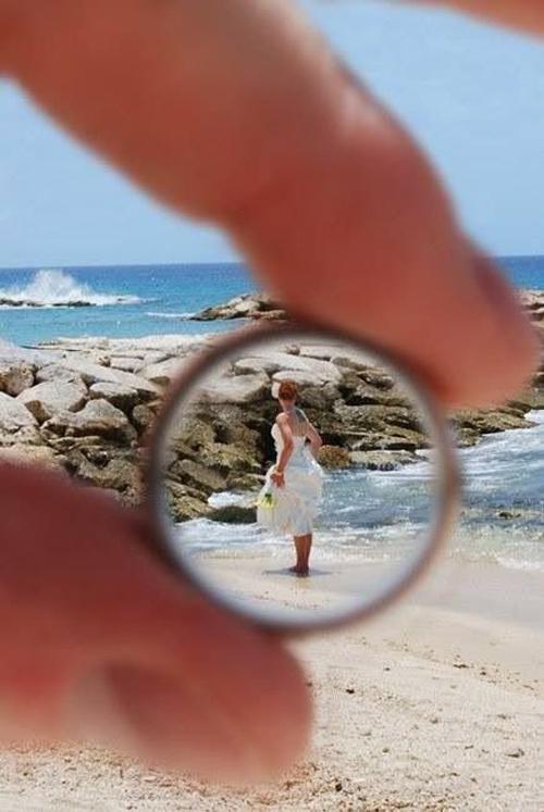 Оригинальные свадебные фото с кольцами