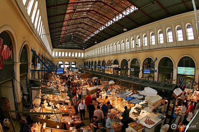 Достопримечательности Афин: Центральный рынок
