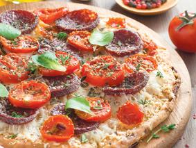 Пицца с салями и помидорами название