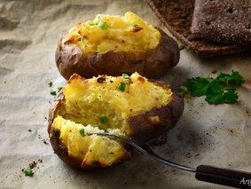Омлет в картофельных чашечках