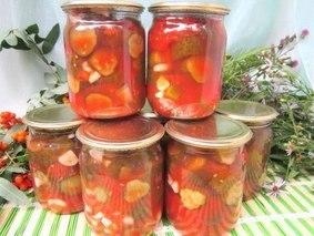 Огурцы в томате на зиму - обалденный рецепт