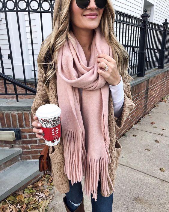 Как носить шарф весной