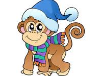 Милая обезьянка на рабочий стол