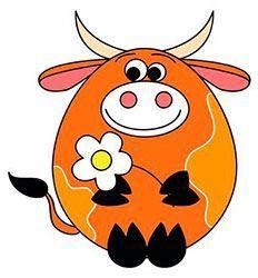 Мимишная открытка на Новый год быка 2021