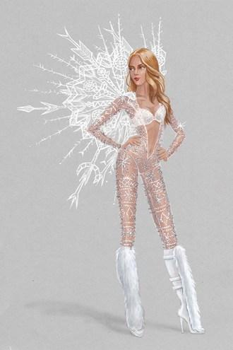 Эскизы костюмов Victoria's Secret
