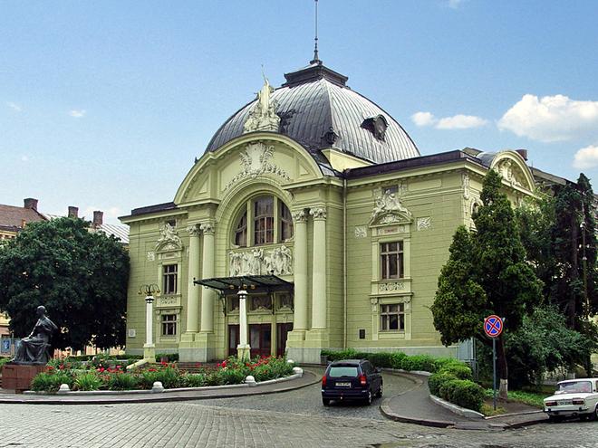 Архітектурні пам'ятки Чернівців. Музично-драматичний театр